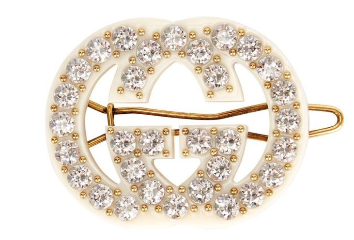 My Celebrity Life – Gucci GG Ivory Embellished Hair Clip