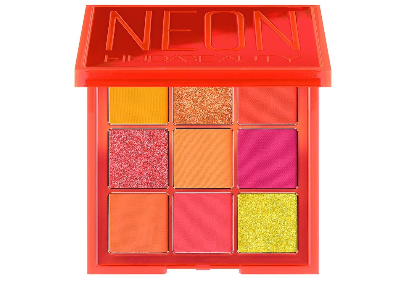 My Celebrity Life – Huda Beauty Neon Orange Obsessions Pressed Pigment Palette