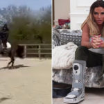 My Celebrity Life – Katie Price has tried to stay positive after her awful injury Picture InstagramKatie Price