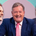 My Celebrity Life – Piers Morgan centre made sure Dan Walker left and Eamonn Holmes right knew he had beat them Picture Getty