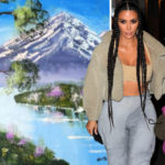 My Celebrity Life – Kim Kardashians daughter North approached by Bob Ross experience Picture GC Images Instagram