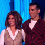 My Celebrity Life – Rebekah Vardy and Andy Buchanan were all smiles after pulling off the dangerous move Picture ITV