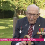 My Celebrity Life – Captain Sir Tom Moore was worried about the reporters wellbeing Picture ITV