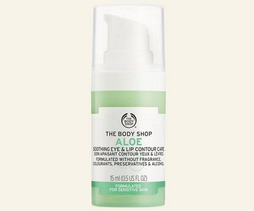 My Celebrity Life – The Body Shop Aloe Soothing Eye Lip Contour Care