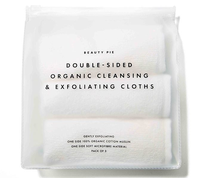 My Celebrity Life – Beauty Pie DoubleSided Organic Cleansing Exfoliating Cloths