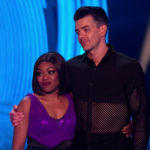 My Celebrity Life – Lady Leshurr and Brendyn Hatfield after their second routine Picture ITV