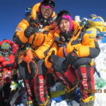 My Celebrity Life – At the age of 23 Tashi left and Nungshi Malik from North India became the youngest people in the world and the first twins to complete the Explorers Grand Slam Pictured on the summit of Everest