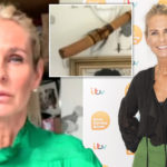My Celebrity Life – Ulrika Jonsson accidentally leaves African penis protector on display during Lorraine interview Picture Rex