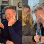 My Celebrity Life – Gordon Ramsay was left soaked and covered in raw egg Picture Instagram