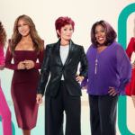 My Celebrity Life – Sharon Osbourne centre and Sheryl Underwood second from right clashed on The Talk recently Picture CBS via Getty Images