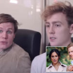 My Celebrity Life – The YouTubers are known for their stunts which often involve celebs and public figures Picture YouTube Josh Pieters and Archie Manners