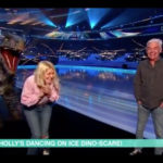 My Celebrity Life – Holly was utterly petrified by the dinosaur prop Picture ITV