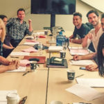 My Celebrity Life – Tom Ellis has sat down for his last ever Lucifer table read as filming on the final season continues Picture Netflix