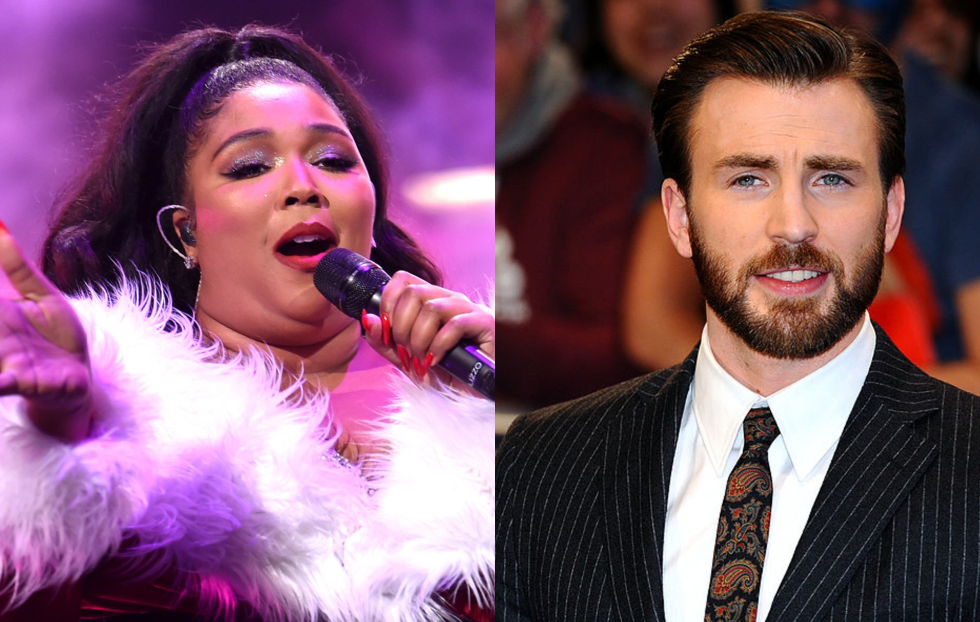 Lizzo and Chris Evans