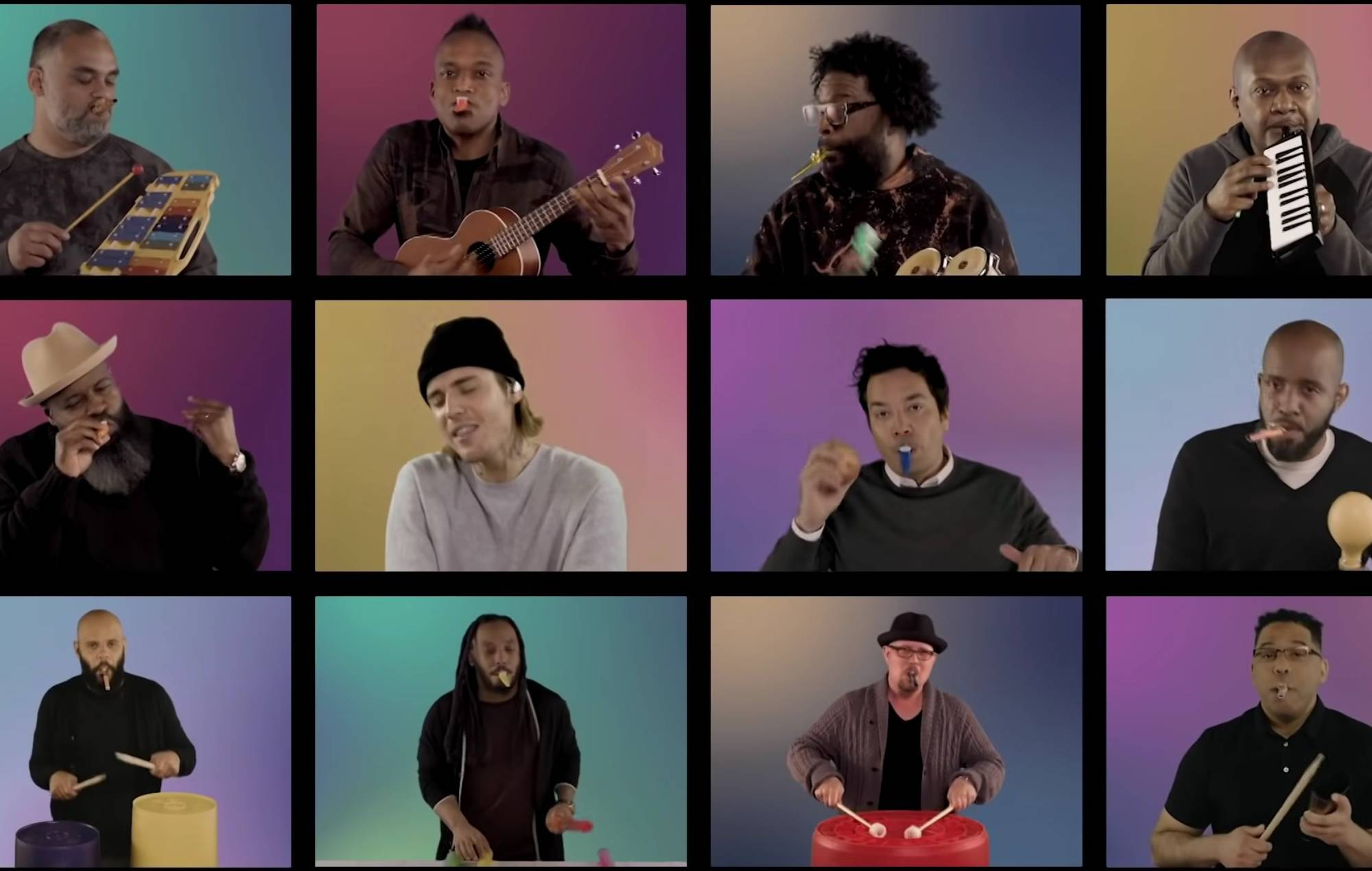 Justin Bieber, The Roots and Jimmy Fallon