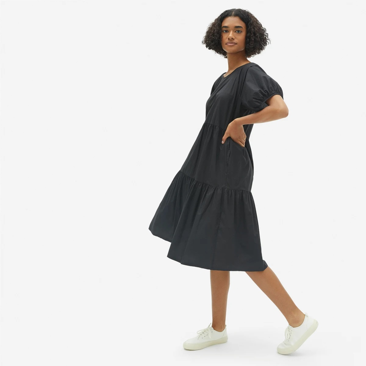 My Celebrity Life – Everlane The Tiered Cotton Dress