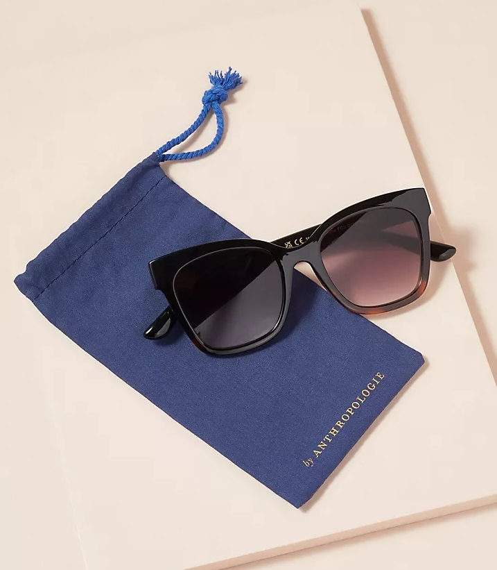 My Celebrity Life – Anthropologie Recycled Square Copper Sunglasses